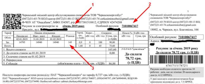 Lichnyj schjot Cherkassyoblenergo - Черкассыоблэнерго. Как зарегистрироваться в личном кабинете.