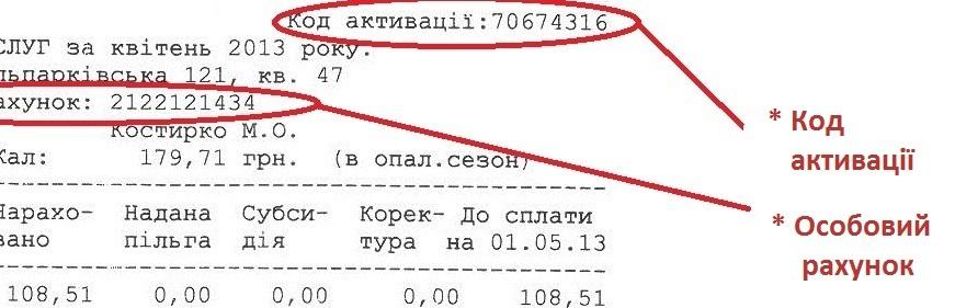 kod aktivacii Lvovodokanal - Львовводоканал. Как зарегистрироваться в личном кабинете.